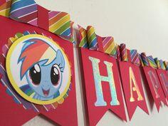 Bandera del tablero del arco iris nombre y por Decorationsbybelle