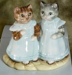 Beatrix Potter Mittens and Moppet BP6a rare cats Near Mint in Box