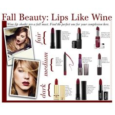 Fall Beauty: Lips Like Wine on Polyvore