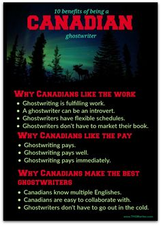 Canadians make the best ghostwriters, and they have a few extra reasons to love the benefits of ghostwriting. Research Writing, Writing Resources, Writing A Book, Affiliate Marketing, Online Marketing, Business Tips, Online Business, Canadian English, Happy Guy