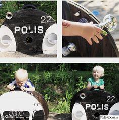 polisbil,träbil,lekplats,lekbil,lådbil