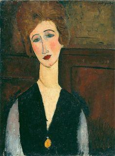 Portrait of a woman 1918, Amedeo Modigliani  #modigliani #paintings #art
