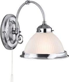 American Diner 1 Light Flush Light Finish/Shade: Silver/Opal: Amazon.co.uk: Lighting