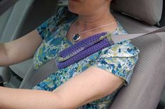 Martha Winger: Crochet Seat Belt Cozy and Free Pattern  I AM SO MAKING ONE OF THESE !!!