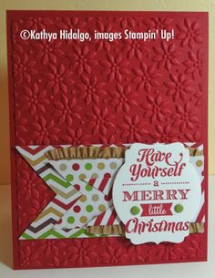 Stampin' Up, Merry Little Christmas, Stamp with Kathya, Sunday Stamps #62