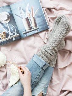 Kässäkoulu-palmikkosukat Novita 7 Veljestä | Novita knits