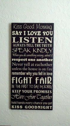 Rules to hang in my bedroom