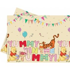 Check out Winnie the Pooh Alphabet from Wholesale Party Supplies Alphabet, Winnie The Pooh Birthday, Wholesale Party Supplies, Nasu, Favorite Cartoon Character, Pooh Bear, Table Covers, Birthday Party Decorations, Baby Shower Themes