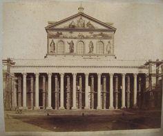 (Roma - La Basilica di San Paolo fuori le mura) 1880