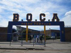 La Boca soccer stadium Buenos Aires, Argentina. Team color! yeay :)))