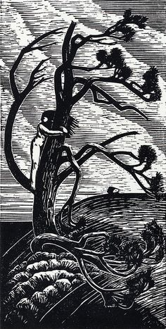 Gustav Vigeland, woodcut.  Hold tightly to the trees and forests still standing. Never let them go.