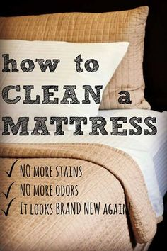 How To Clean A Mattress .. Let's face it, our mattresses collect a lot of things we'd rather not discuss. Dander, dust mites, pollen… and the stains, oh the stains. With a whole lot more which we probably don't even want to know about!