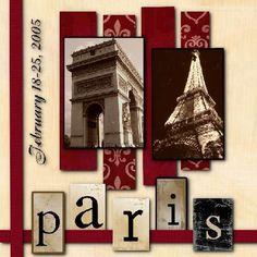 Travel scrapbook layout: Paris