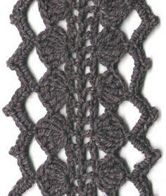Receitas de Crochet: Cachecol