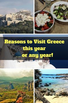 Reasons to Visit Greece this year … or any year! #Greece #vacationideas