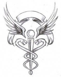 Best representation descriptions: Related searches: Medical Symbol Caduceus Tattoo Design,Caduceus Tattoos for Nurses,Caduceus Tattoo with . Caduceus Tattoo, Tribal Tattoos, Girl Tattoos, Tattoos For Guys, Tatoos, Medical Alert Tattoo, Medical Tattoos, Nursing Tattoos, Dna Tattoo