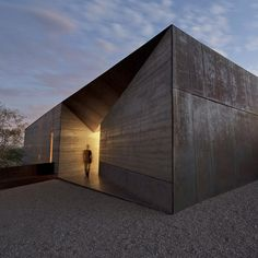 Desert Courtyard House by Wendell Burnette features rammed earth walls.