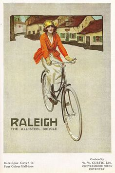 AD33 Vintage 1920's Raleigh Bicycles Bike Advertising Poster A4 Re-print