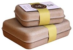 GreenKraft clamshell packaging - eco friendly and stylish.  Great for soap packaging, wedding favor boxes, corporate gifts and more!