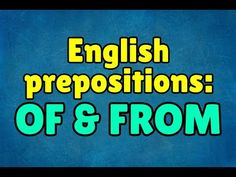 English prepositions: of & from – Espresso English Advanced English Grammar, Learn English Grammar, English Prepositions, Espresso, Reading, Words, Espresso Coffee, Reading Books, Horse