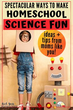 Not sure how to make homeschool science fun? Check out these incredible ideas & inspiration to help you enjoy learning science at home with your kids. #homeschoolscience #scienceathome #learnathome #sciencefun #homeschoolfun #homeschoolfunactivities Science Week, Cool Science Experiments, Science Curriculum, Science Fair Projects, Science Lessons, Science For Kids, Science Activities, Steam Activities, Science Resources