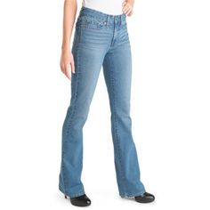 Signature by Levi Strauss & Co. Women's Totally Shaping Bootcut Jeans, Size: 10, Blue