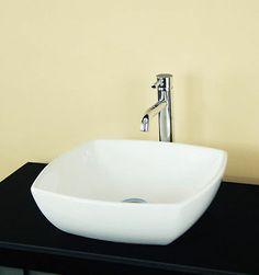 NEW WHITE PORCELAIN CERAMIC VESSEL SINK BATHROOM BOWL X
