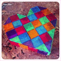 We tried this one but didn't have enough small squares. We replaced 4 small with one huge one. Worked great as a flat heart.