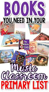 Books in the music classroom can be used for singing, dancing, composing, history and more! Check out this huge list of children's literature that should be on the shelves of your music classroom.