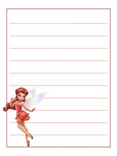 For pocket scrapping - View the full album on Photobucket. Tinkerbell And Friends, Disney Fairies, Printable Lined Paper, Journal Cards, Life Journal, Project Life Cards, Cute Cartoon Drawings, Free Printable Coloring Pages, Free Printables