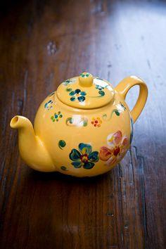 Floral Colorful Unique Handpainted Ceramic Teapot by ZoraidasArt