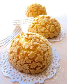 """ok… first thing first… these are not buns BUNS per se…. they are actually choux pastries…. so if you were looking for a bread recipe, """"sorli"""" for disappointing…. Bakery Recipes, Bread Recipes, Cooking Recipes, Choux Buns, Twisted Recipes, Donuts, Sweet Buns, Bread Bun, Cupcakes"""