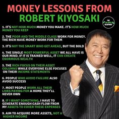 👇🏽Which is your favourite book written by kiyosaki ? - Please Heart ❤❤ this photo, so that we can re - alexander_plk Financial Quotes, Financial Literacy, Financial Tips, Entrepreneur Motivation, Business Motivation, Entrepreneur Books, Rich Dad Poor Dad, Investing Money, Saving Money