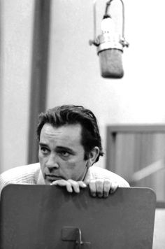 Richard Burton in a recording session for Camelot - Original Broadway Cast Recording 1960 | The Official Masterworks Broadway Site