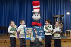 The Cat in the Hat visits an #Indigo #LoveOfReading grant school to share a story. (2013) #IndigoLOR10