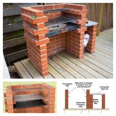 1000 ideas about brick bbq on pinterest pizza ovens brick grill and brick built bbq - Building your own brick smokehouse in easy steps ...