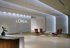 sleek reception area