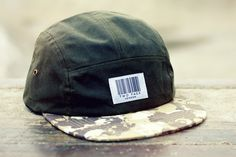 The Worlds Original Face  TWO Face London3rd Edition 5 panel cap, hat- Barcode collection box logo- Olive wax cotton- Camo skull cotton peak - Nylon strapSupreme condition, only the best quality