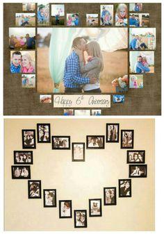 Heart Shaped Photo Collage, Heart Shapes, Photo Wall, Frame, Home Decor, Homemade Home Decor, Photography, A Frame, Frames