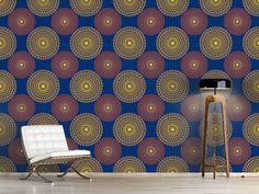 Design #Tapete Sonnenkreise Auf Blau