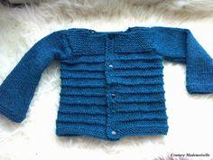 Tuto du Paletot extrapolé en 24 mois. Layette tricot