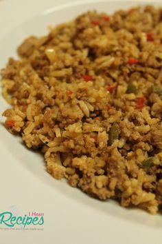 Homemade dirty rice made with ground turkey!