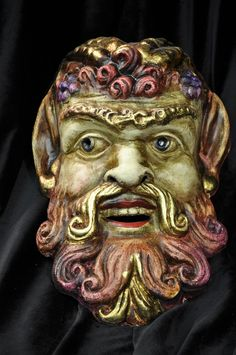 Items similar to Roman Wine God Handmade Mardi Gras Mask on Etsy Pictures On String, Paper Mache Mask, Venetian Masquerade Masks, Roman Gods, Carnival Masks, Masks Art, Wow Art, Greek Art, Green Man