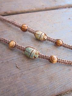 Scarab and Hemp bracelets