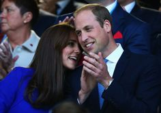 Prince William and Kate Middleton Bring Their Biggest Smiles to the Rugby World Cup: The Duke and Duchess of Cambridge cracked up together when they attended the 2015 Rugby World Cup in England on Friday.