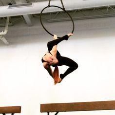 On Saturdays we spin! Methos dancer @smilo.aerial on lyra  @methosaerial #methosaerial
