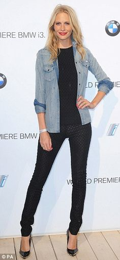 Model Poppy Delevigne wearing a Missoni black crochet top and trousers at BMW 13 global reveal party in London on Dailymail.co.uk