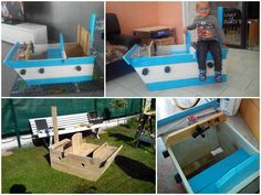 #Kids, #PalletBoxe, #Pirate, #RecycledPallet, #Ship