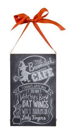 Broomstick Cafe Chalk Sign