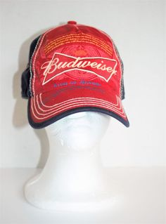 31bcecff542 Budweiser Bud Light King Of Beers Cotton Snapback Baseball Hat Cap Blue   fashion